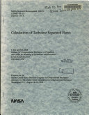 Calculations of Turbulent Separated Flows
