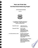 Gallatin National Forest  N F    West Lake Timber Sale and Road Decommissioning Project Book