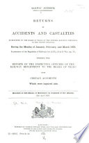 Return of Accidents and Casualties as Reported to the Board of Trade by the Several Railway Companies in the United Kingdom     for the Quarter Ending