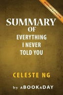 Summary of Everything I Never Told You a Novel