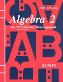 Saxon Algebra 2 Solution Manual Third Edition 2003 [Pdf/ePub] eBook