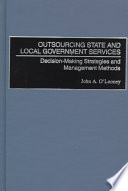 Outsourcing State And Local Government Services