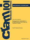 Studyguide for Essentials of Understanding Psychology by Feldman  Robert
