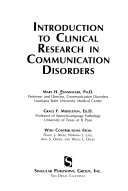 Introduction to Clinical Research in Communication Disorders