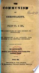 The Communism of Christianity