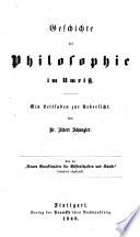 Geschichte der Philosophie im Umriss  : ein Leitfaden zur Uebersicht