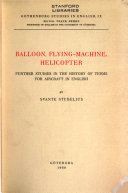 Balloon  Flying Machine  Helicopter Book