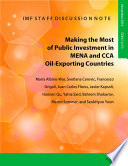 Making the Most of Public Investment in MENA and CCA Oil-Exporting Countries