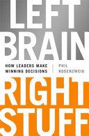 Left Brain  Right Stuff Book