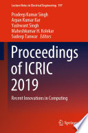 Proceedings of ICRIC 2019