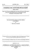 Memoir Series of the American Anthropological Association