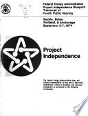 Project Independence Seattle Boise Portland Anchorage Sept 5 7 1974