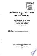 Command and Commanders in Modern Warfare