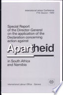 Special Report Of The Director General On The Application Of The Declaration Concerning Action Against Apartheid In South Africa And Namibia