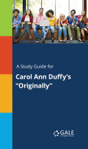 A Study Guide for Carol Ann Duffy's