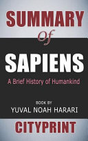 Summary Of Sapiens A Brief History Of Humankind Book By Yuval Noah Harari