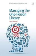 Managing the One-Person Library [Pdf/ePub] eBook
