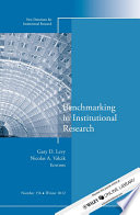 Benchmarking In Institutional Research Book PDF