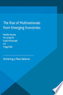 The Rise of Multinationals from Emerging Economies  : Achieving a New Balance