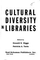 Cultural Diversity in Libraries Book