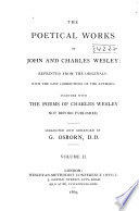 The Poetical Works Of John And Charles Wesley Pt Ii