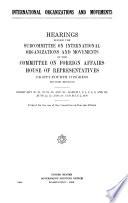 International Organizations and Movements