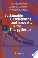 Sustainable Development and Innovation in the Energy Sector Book