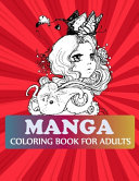 Manga Coloring Book For Adults Book PDF