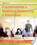 Fundamentals Of Statistical Reasoning In Education Book PDF