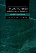 Pdf Thucydides and the Ancient Simplicity