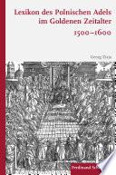Lexikon des polnischen Adels im Goldenen Zeitalter 1500–1600