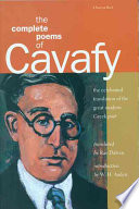 The Complete Poems of Cavafy [i.e. K. P. Kabaphēs]