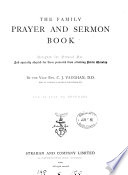 The family prayer and sermon book Book