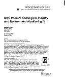 Lidar Remote Sensing for Industry and Environment Monitoring