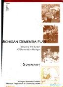 Michigan Dementia Plan Summary