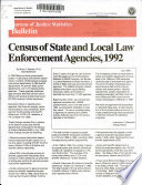 Census Of State And Local Law Enforcement Agencies 1992