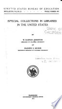 Special Collections In Libraries In The United States