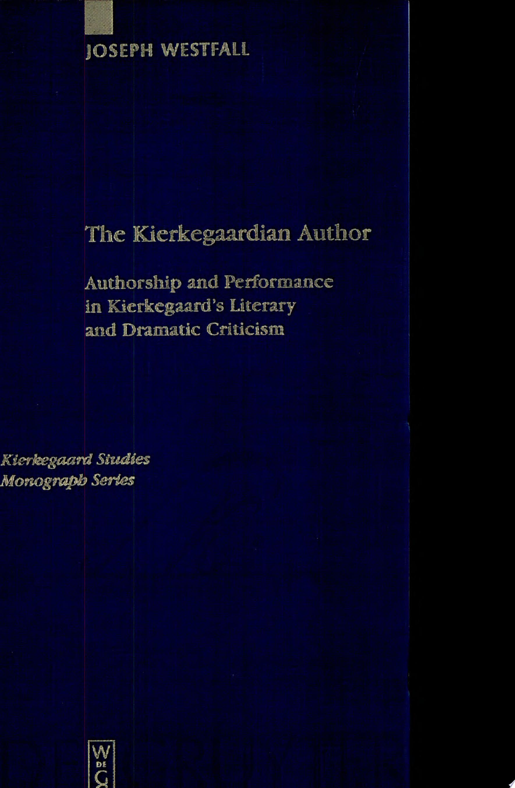 The Kierkegaardian Author