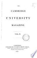 The Cambridge University Magazine