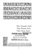 American Democracy Today and Tomorrow Book PDF