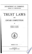 Trust Laws and Unfair Competition Book