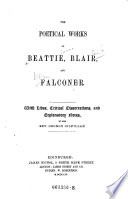 The    Poetical Works of Beattie  Blair and Falconer