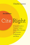 Cite Right  Third Edition