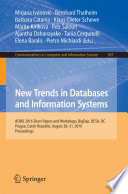 New Trends in Databases and Information Systems Book
