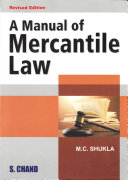 Pdf A Manual of Mercantile Law Telecharger