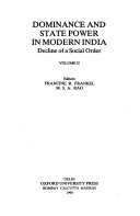 Dominance And State Power In Modern India