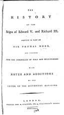 The History of the Reigns of Edward V. and Richard III ebook