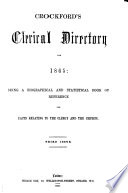 Crockford S Clerical Directory For 1865 Book PDF