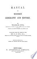 Manual of Ancient Geography and History