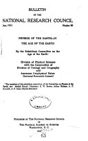 Physics of the Earth: The age of the earth